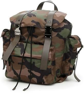 Valentino Jacquard Camouflage Backpack