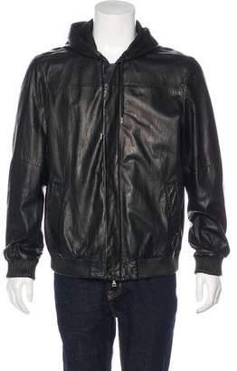 Vince Hooded Lambskin Jacket