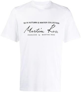Martine Rose logo print T-shirt
