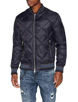 Antony Morato Men's BOMBERINO REVERSIBILE CON COSTINA A Righe Bomber Jacket, (Blu Notte 7066)