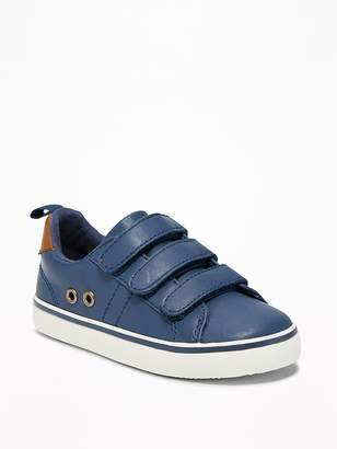 Old Navy Triple-Strap Faux-Leather Sneakers for Toddler Boys