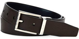 Bally Astor Reversible Leather Belt, Brown