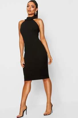 boohoo Ruffle Neck Sleeveless Dress