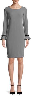 Calvin Klein Ruffled Cuff Shift Dress