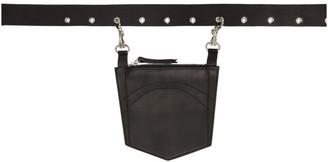 Dheygere Black Leather Pocket Belt