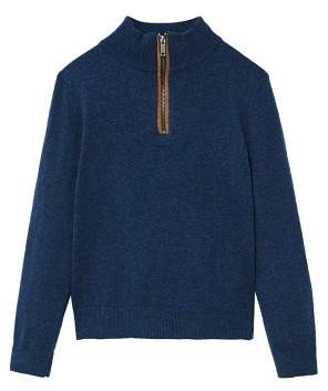 MANGO Zipped elbow patches sweater