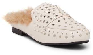 Catherine Malandrino Armo Studded Faux Fur Loafer