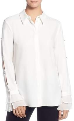 T Tahari Split-Sleeve Shirt