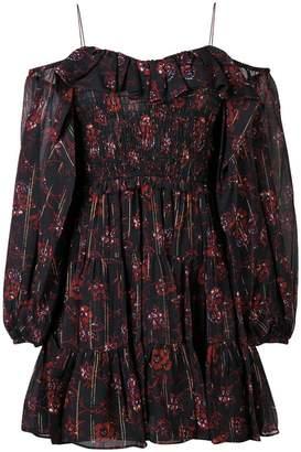 Ulla Johnson short off-shoulder floral dress