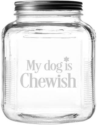 Susquehanna Glass My Dog Is Chewish Brushed Lid Gallon Jar