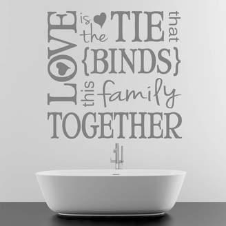 Wall Art 'Love Binds Together' Wall Sticker