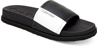 de2e7e11db53 Calvin Klein Calvin Men Mackee Slide Sandals Men Shoes