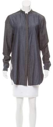 Wes Gordon Long Sleeve Button-Up Top