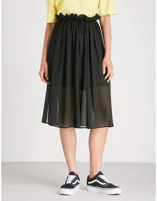 Izzue Pleated crepe skirt