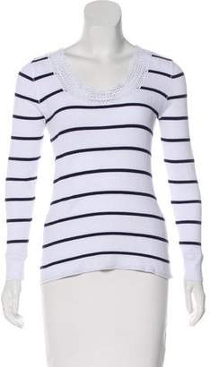 Lauren Ralph Lauren Lace-Trimmed Striped Top