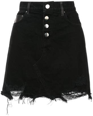 Amiri denim fringe skirt