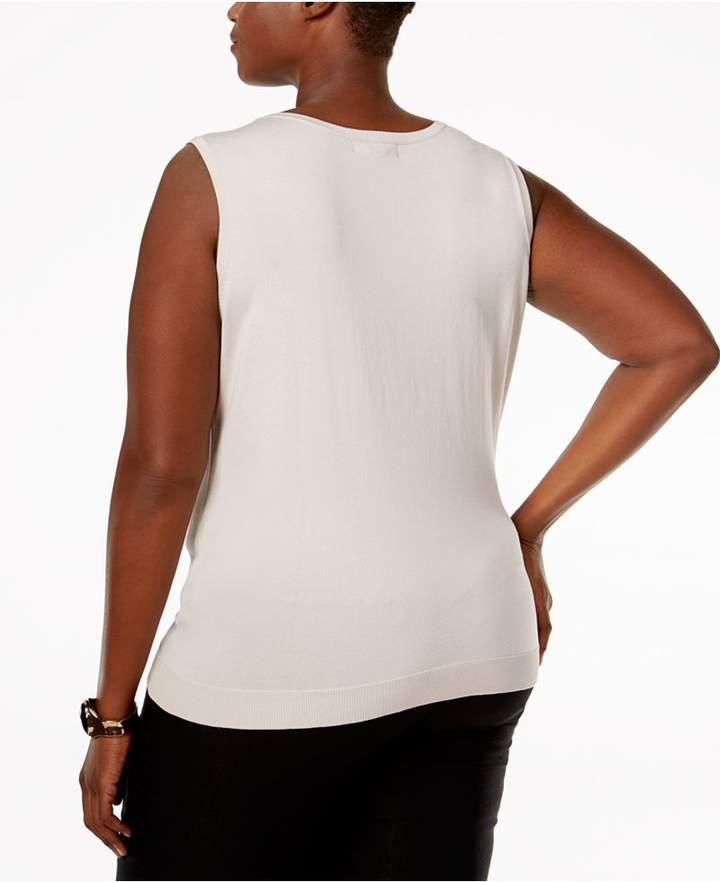 August Silk Plus Size Sleeveless Shell
