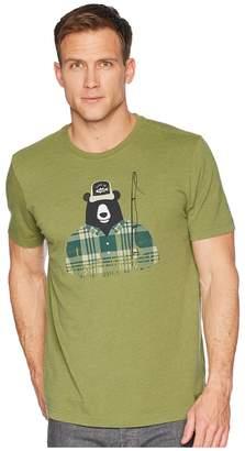 Life is Good Fishing Bear Crusher Tee Men's T Shirt