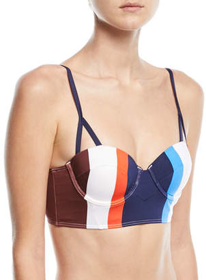 Mei L'ange Ava Structured Striped Bustier Swim Top