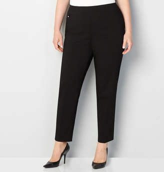 Avenue Super Stretch Pull-On Pant with Tummy Control (Black) 28-32