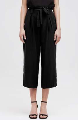 L'Agence Samira Wide-Leg Paper Bag Silk Pant