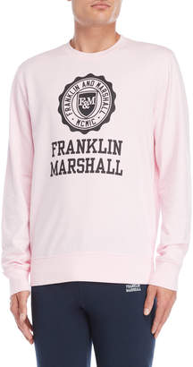 Franklin & Marshall Powder Pink Uni Logo Pullover Sweatshirt