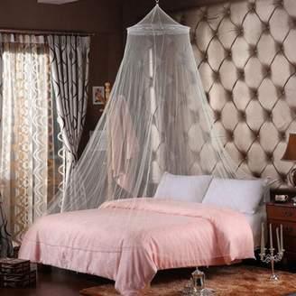 Generic Round Elegant Mosquito Flying Bugs Net Mesh Bed Canopy Netting Bedding White