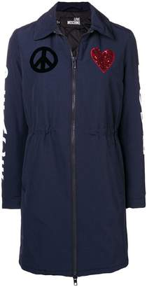 Love Moschino peace and love parka