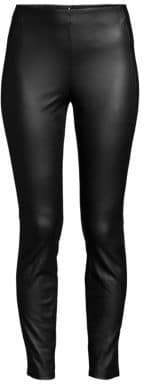 Theory Back Zip Faux Leather Leggings