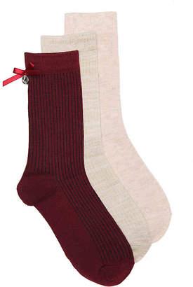 Nine West Bow Crew Socks - 3 Pack - Women's