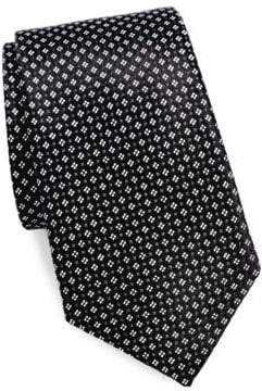 Saks Fifth Avenue Micro Floral Silk Tie