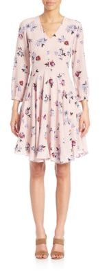 Rebecca Taylor Silk Floral-Print Dress $495 thestylecure.com