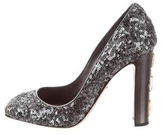 Dolce & Gabbana Sequined Embellished Pumps w/ Tags