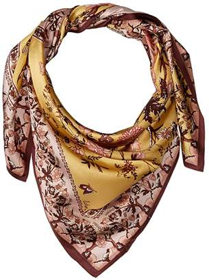 Echo Floral Tree Silk Square Scarf