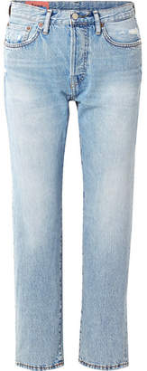 Acne Studios 1997 Distressed High-rise Straight-leg Jeans - Light denim