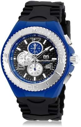 Technomarine Men's Black Silicone Band Steel Case Quartz Analog Watch 115297