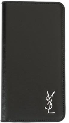 Saint Laurent bifold logo iPhone X case