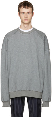 Juun.J Grey 'I Know Both' Pullover $410 thestylecure.com