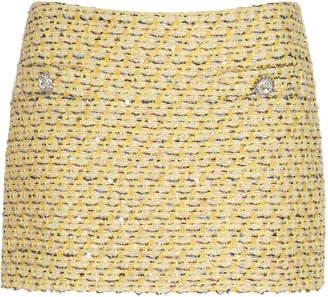 Alessandra Rich Embellished Tweed Skirt Size: 38