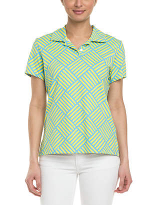 Melly M Teagan Print Knit Polo
