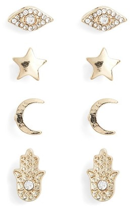 Women's Ettika Set Of 4 Stud Earrings $38 thestylecure.com