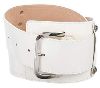 Saks Fifth Avenue Patent Leather Buckle Belt