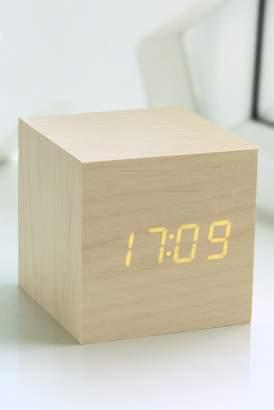 GINGKO Cube Click Clock - Maple/Orange LED