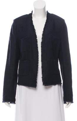 L'Agence Open Front Tweed Jacket