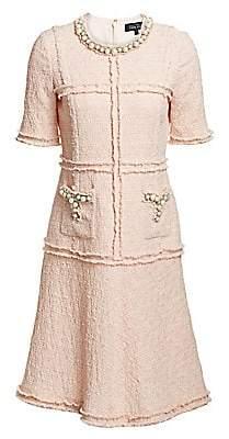 Teri Jon by Rickie Freeman Women's Short-Sleeve Sheath Dress