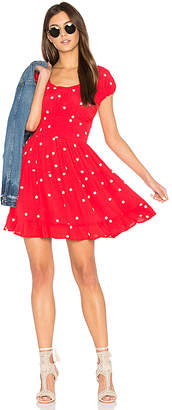 For Love & Lemons Chiquita Tiered Mini Dress in Red $202 thestylecure.com