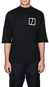 Chapter MEN'S GRAPHIC LINEN-COTTON T-SHIRT - BLACK SIZE L