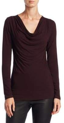Majestic Filatures Soft Touch Cowlneck Top