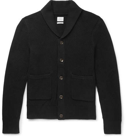 Rag & Bone Avery Shawl-Collar Textured-Knit Cotton Cardigan
