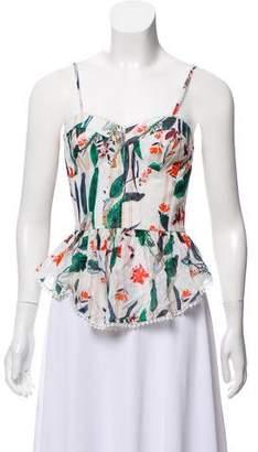 Tryb 212 Floral Print Sleeveless Blouse